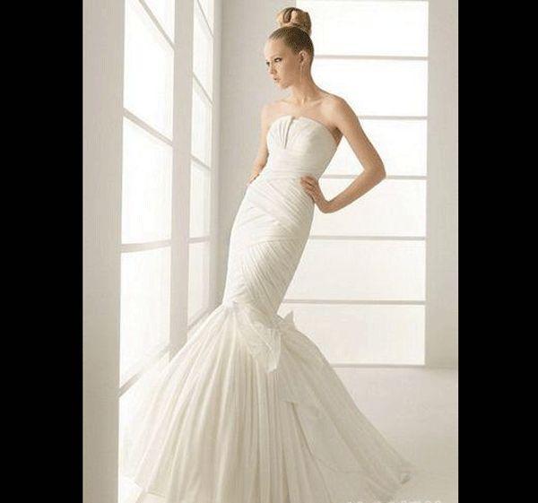 服装设计图鱼尾婚纱